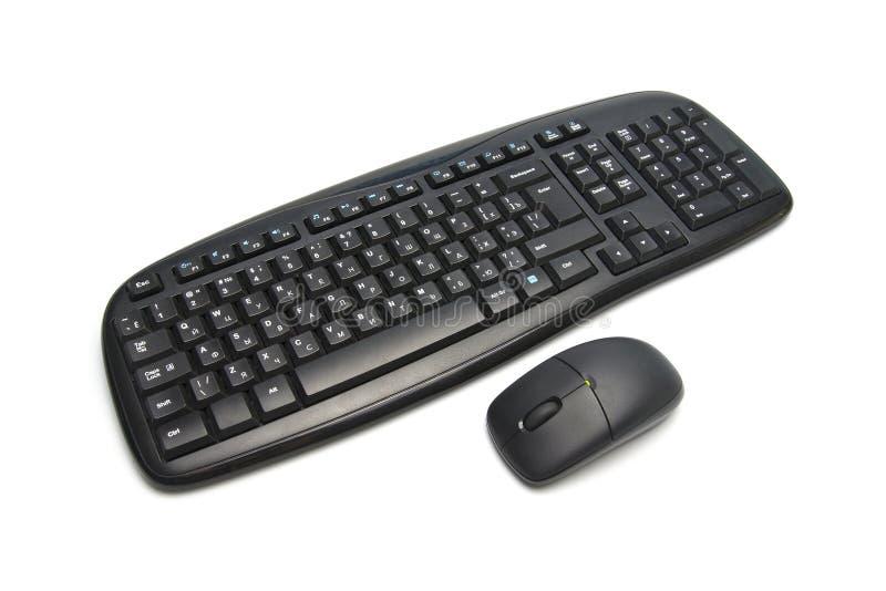 Tastiera e mouse di calcolatore fotografia stock