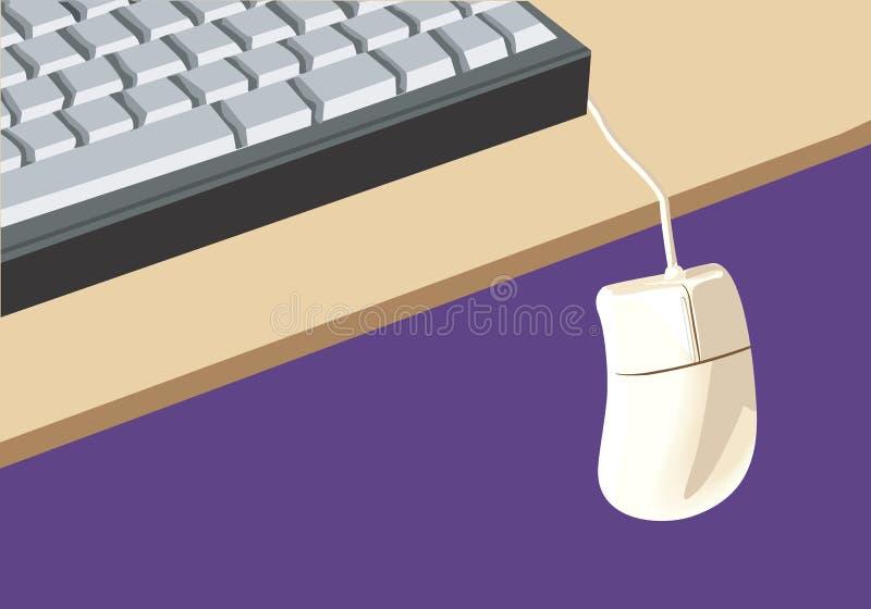 Tastiera e un mouse illustrazione di stock