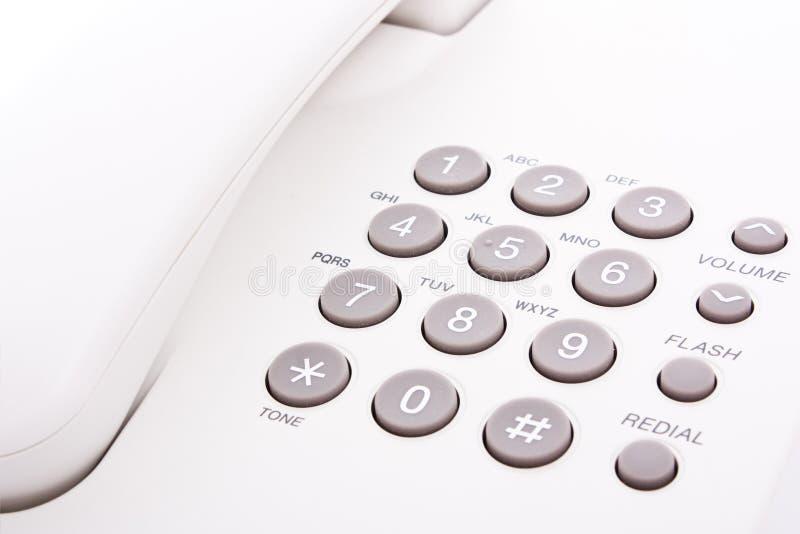 Tastiera grigia del telefono fotografia stock libera da diritti