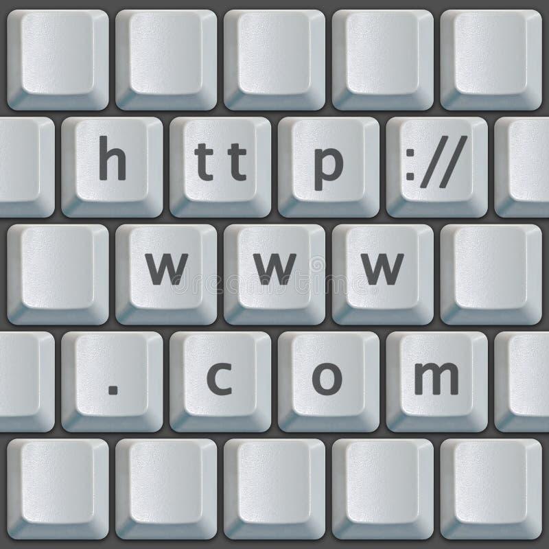 Tastiera http://www.com fotografia stock libera da diritti