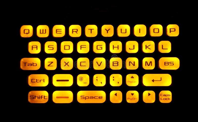 Tastiera illuminata immagine stock libera da diritti