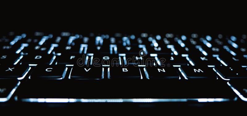 Tastiera luminosa fotografie stock libere da diritti