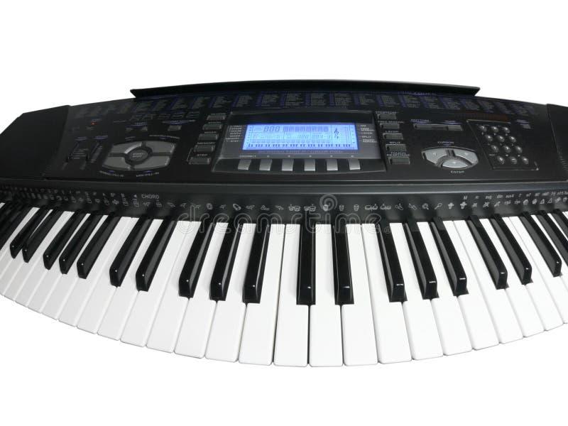 Tastiera musicale curva immagini stock libere da diritti