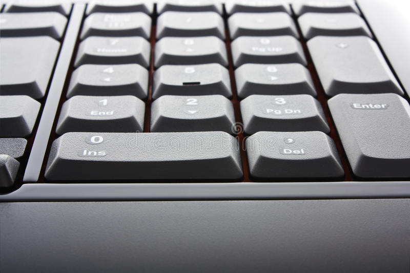 Tastiera nera fotografie stock libere da diritti