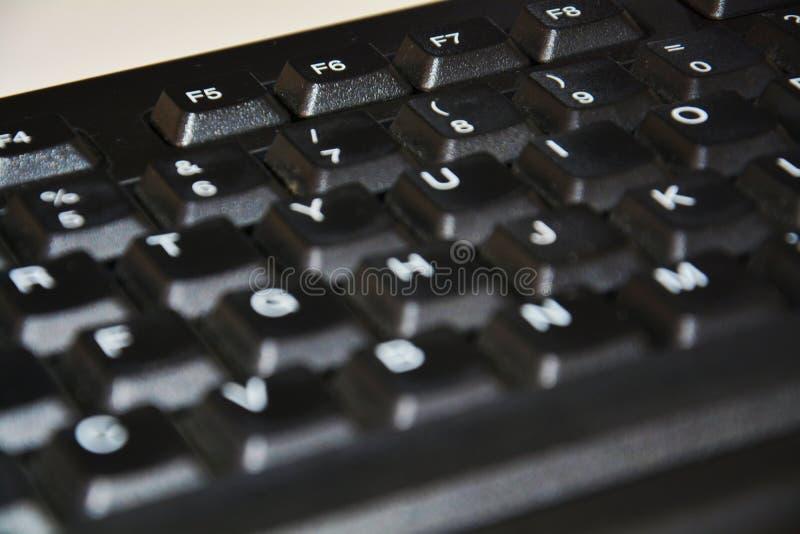 Tastiera nera immagini stock