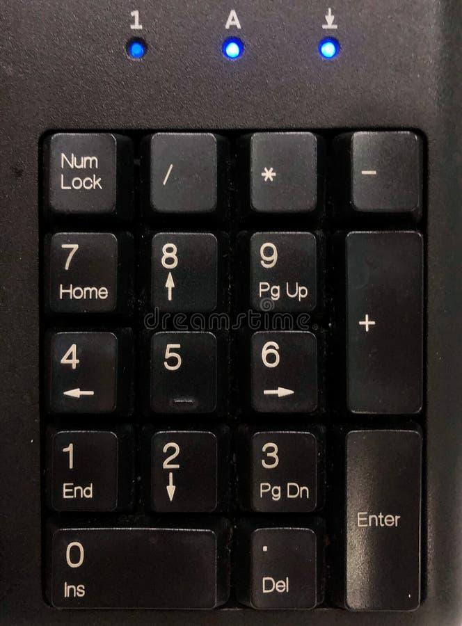 Tastiera numerica sulla tastiera nera fotografia stock libera da diritti
