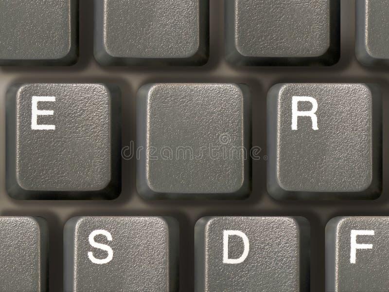 Tastiera (primo piano) con un tasto pulito fotografia stock libera da diritti