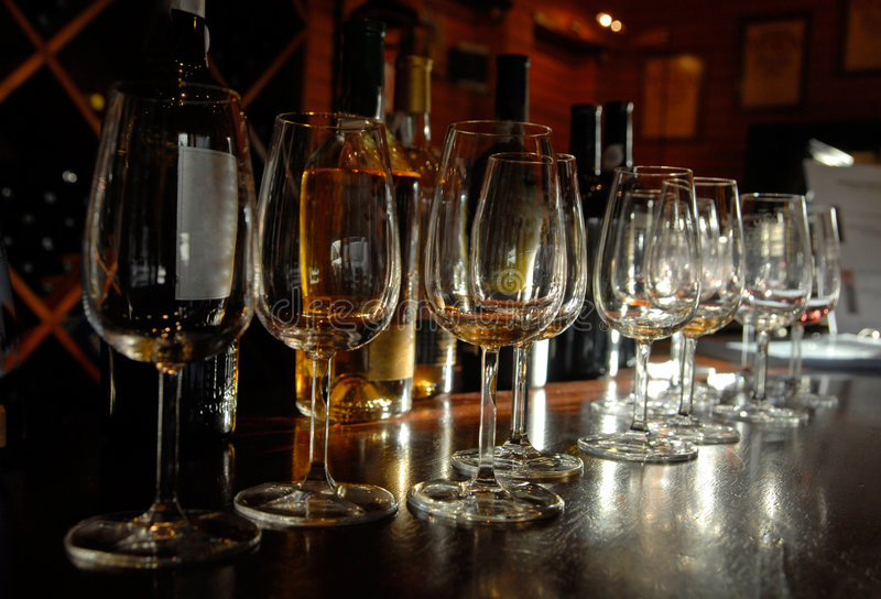 Tasting of Port wine, Portugal stock photo