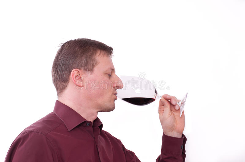 Tasting A Red Wine Stock Photo