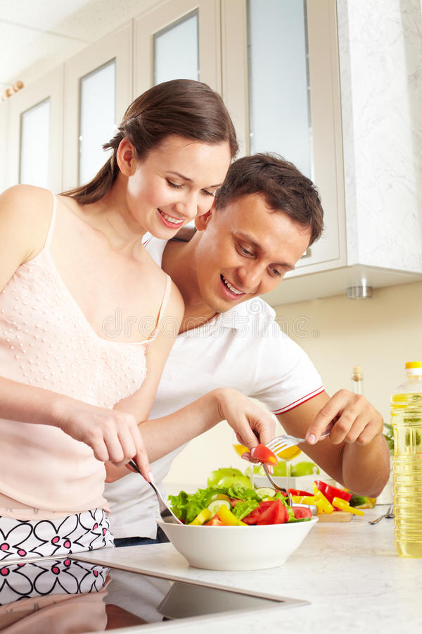 Download Tasting salad stock photo. Image of happy, person, humen - 22926570