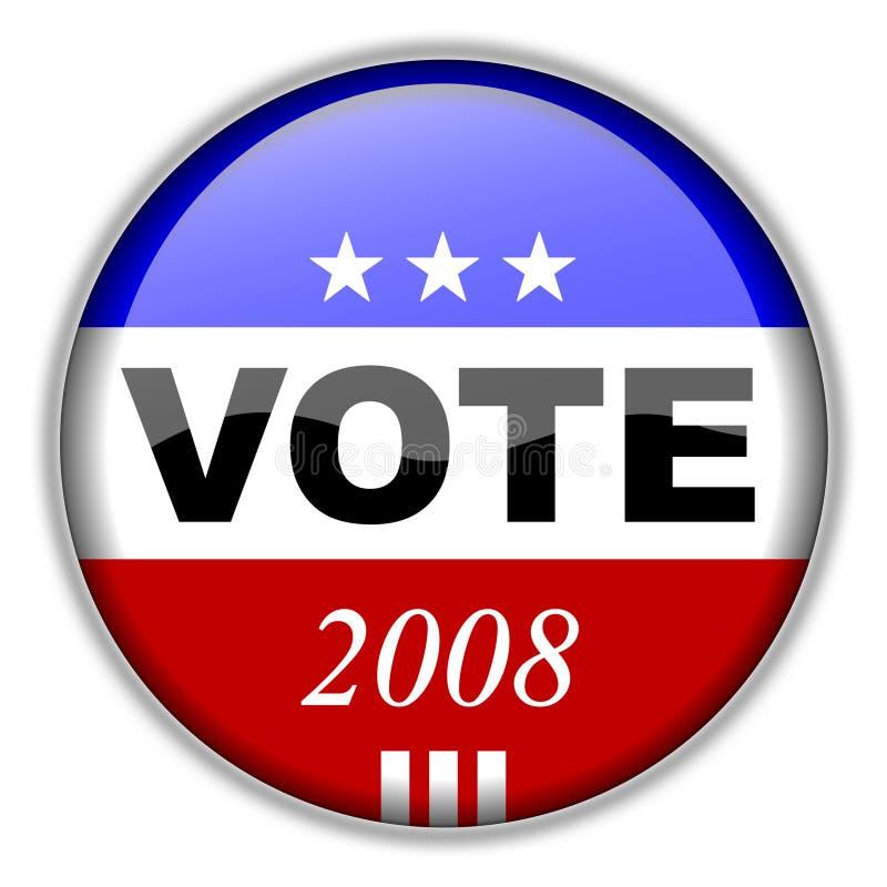Tasto 2008 di voto illustrazione vettoriale