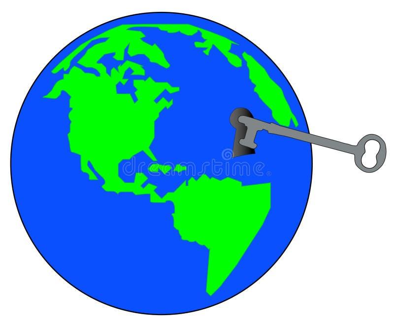 Tasto al mondo illustrazione vettoriale