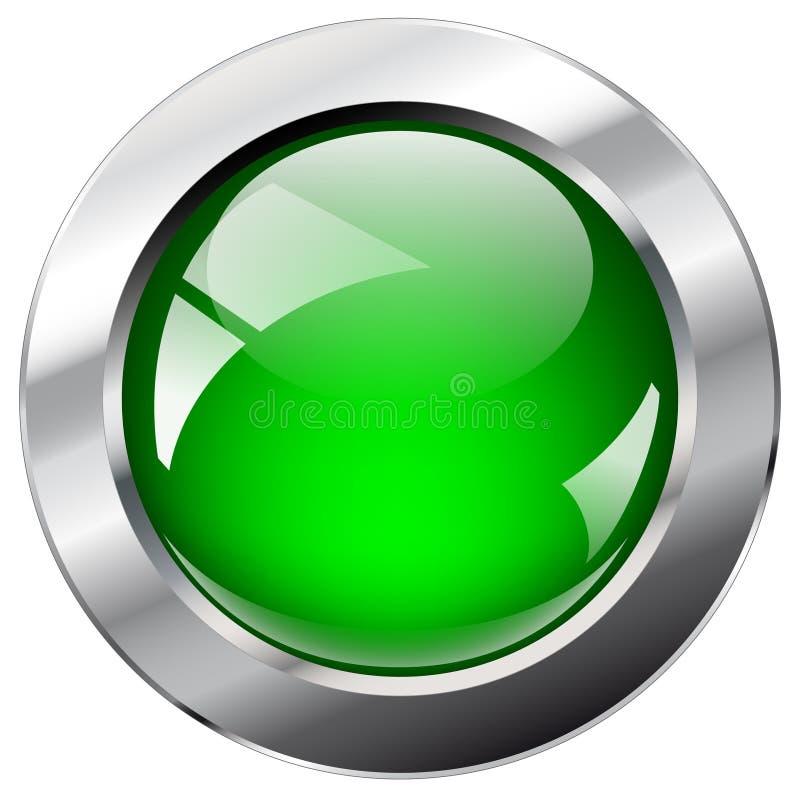 Tasto astratto lucido di Web con l'anello del metallo illustrazione di stock