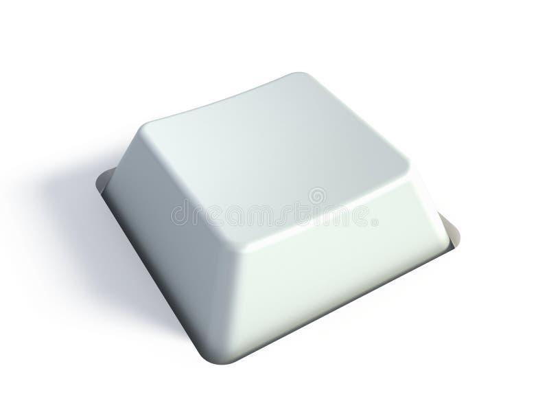 Tasto bianco in bianco illustrazione di stock