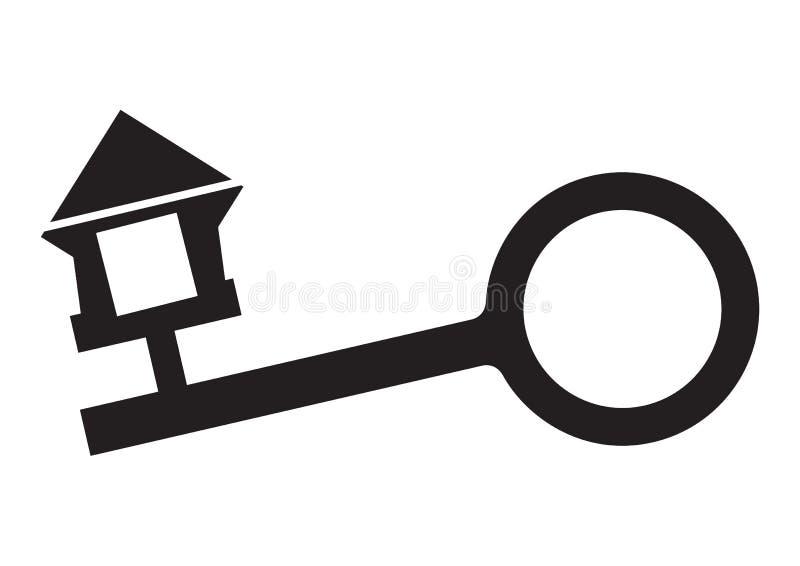 Tasto del bene immobile - vettore illustrazione di stock