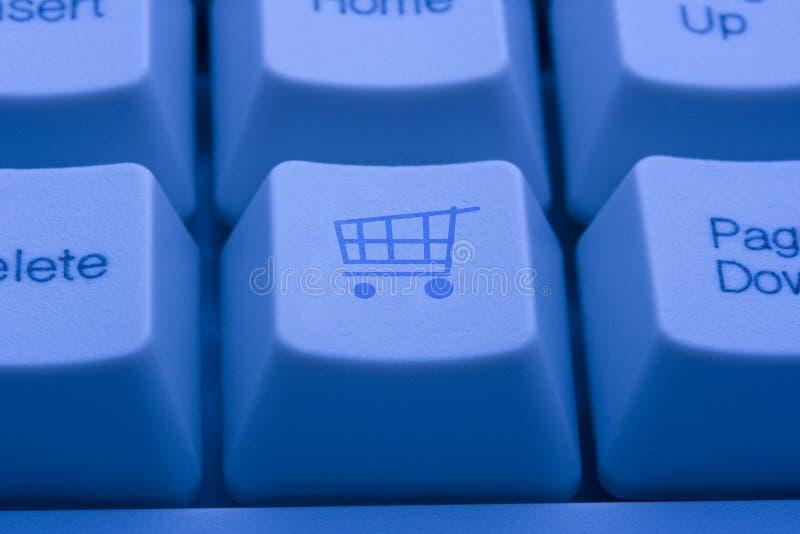 Tasto del carrello di acquisto immagini stock libere da diritti