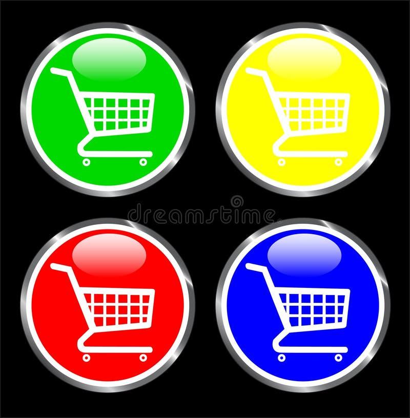 Tasto del carrello di acquisto per gli applicazione Web illustrazione vettoriale