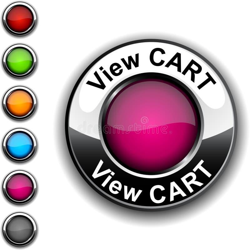 Tasto del carrello di vista. illustrazione di stock