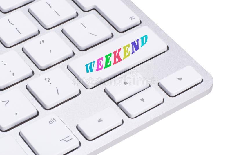 Tasto del computer - giorni della settimana - fine settimana fotografie stock libere da diritti