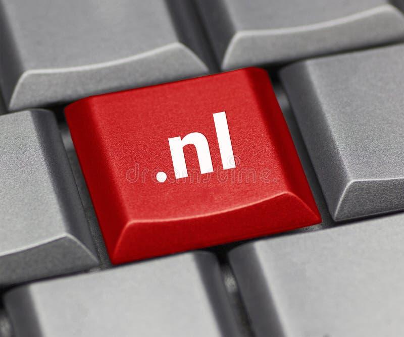 Tasto del computer - suffisso di Internet dei Paesi Bassi fotografie stock