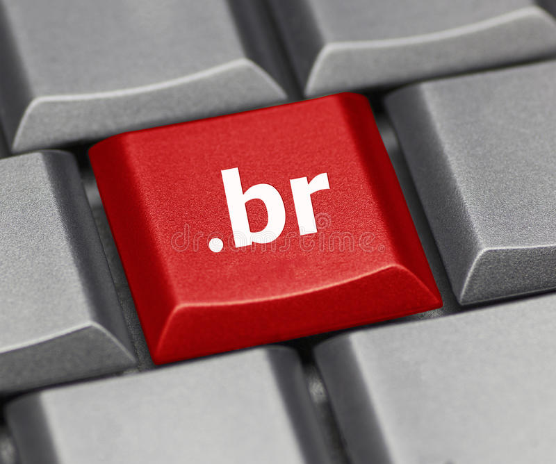 Tasto del computer - suffisso di Internet del Brasile immagine stock libera da diritti