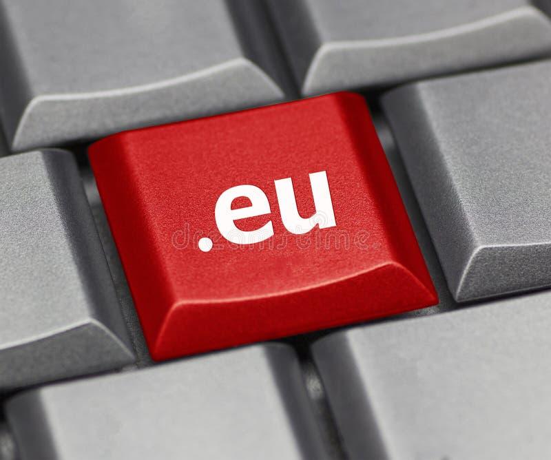 Tasto del computer - suffisso di Internet di Europa fotografie stock libere da diritti