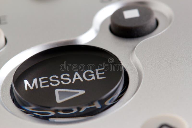 Tasto del messaggio del gioco immagine stock libera da diritti