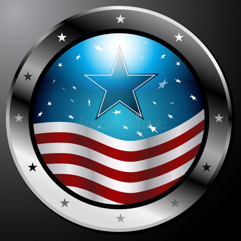 Tasto della bandiera americana illustrazione vettoriale