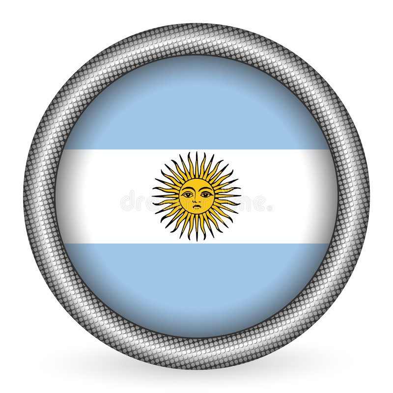 Tasto della bandierina dell'Argentina illustrazione vettoriale