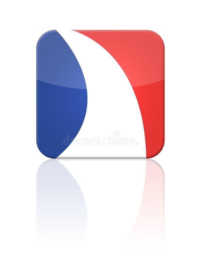 Tasto della bandierina della Francia illustrazione di stock