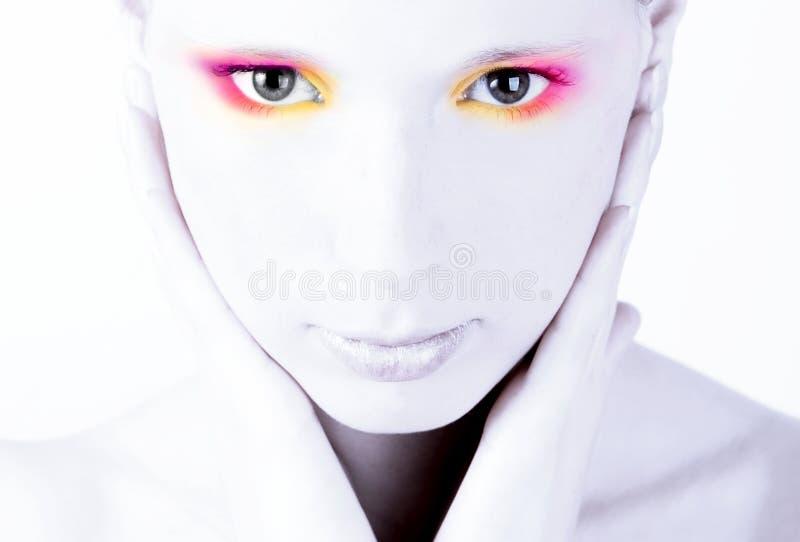 Tasto della donna di Portret alto fotografia stock