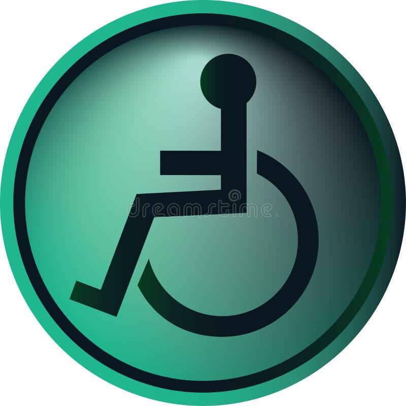 Tasto della sedia a rotelle royalty illustrazione gratis
