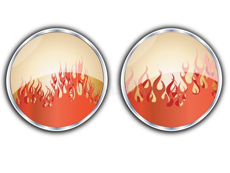 Tasto delle fiamme illustrazione vettoriale