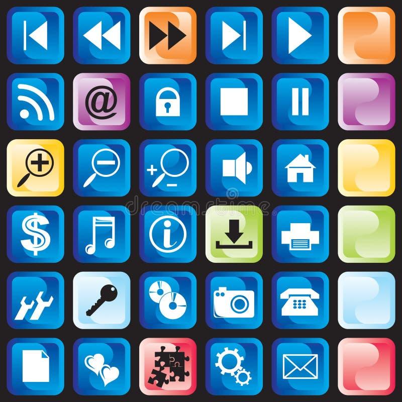 Tasto delle icone illustrazione vettoriale