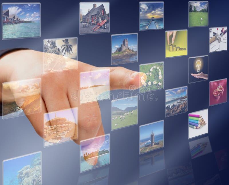 Tasto dello schermo di tocco fotografia stock