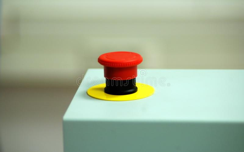 Tasto di arresto rosso di emergenza Stampante di Digital fotografie stock libere da diritti