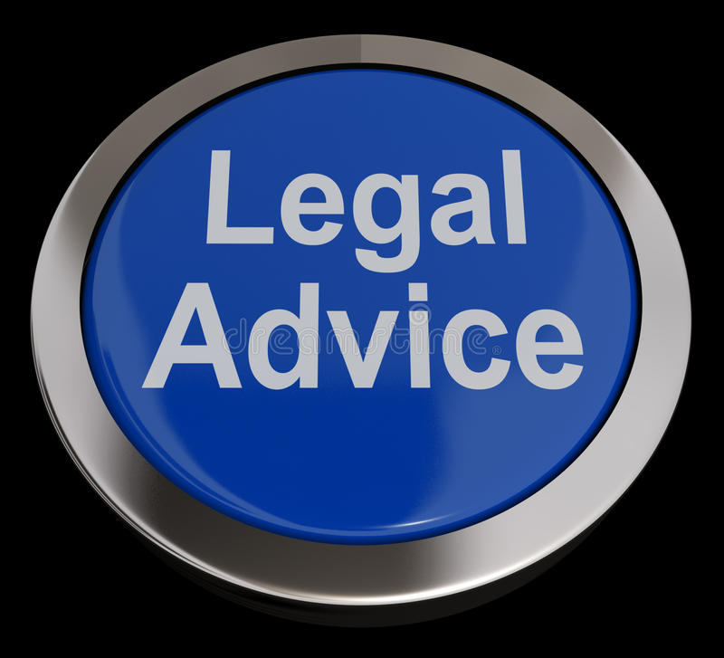 Tasto di consiglio legale in azzurro illustrazione vettoriale