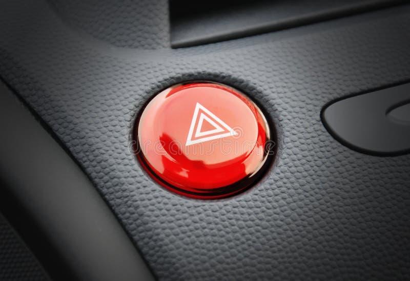 Tasto di emergenza dell'automobile fotografie stock libere da diritti