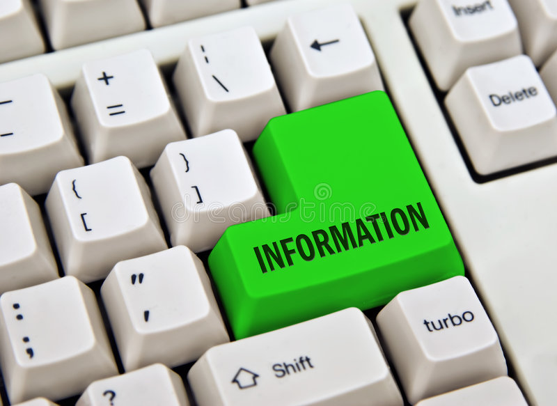 Tasto di informazioni immagine stock libera da diritti