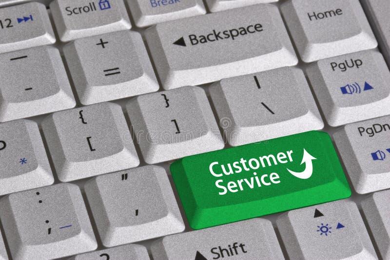Tasto di servizio di assistenza al cliente immagine stock
