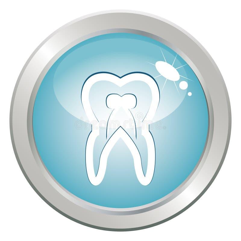 Tasto di stomatologia con il dente royalty illustrazione gratis