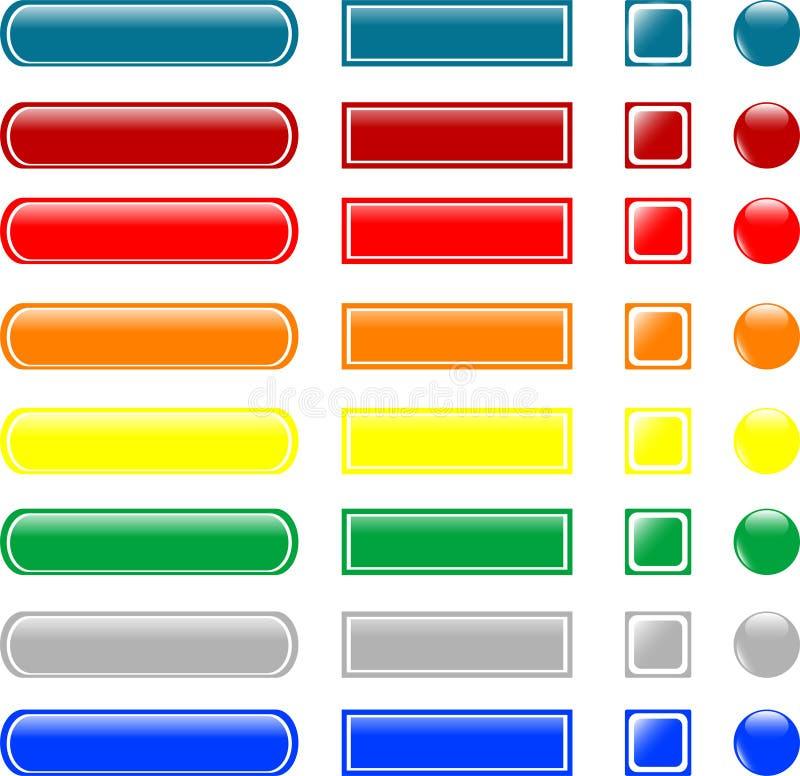Tasto di vetro vuoto colorato illustrazione vettoriale
