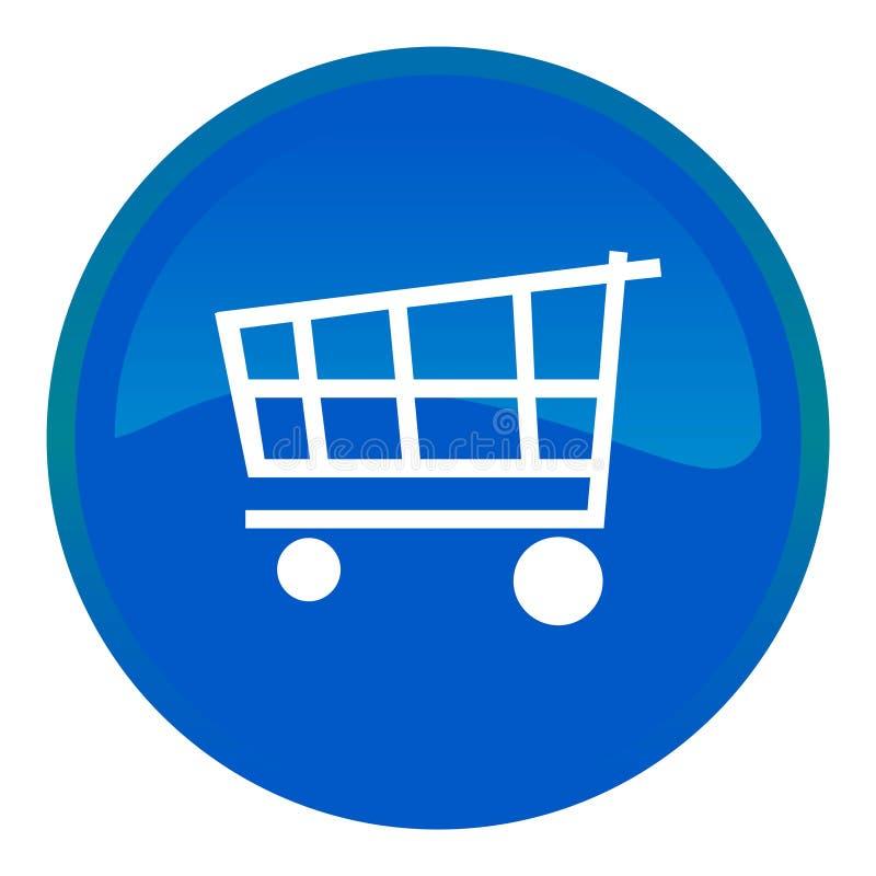 Tasto di Web del carrello di acquisto illustrazione di stock
