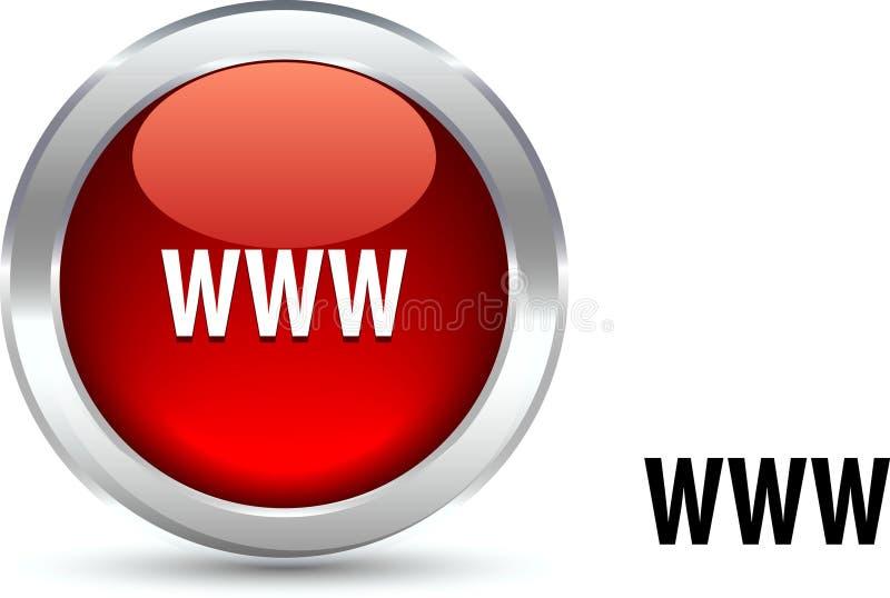 Tasto di WWW. illustrazione vettoriale