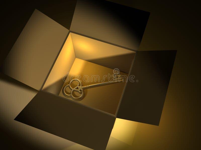 Tasto dorato illustrazione di stock