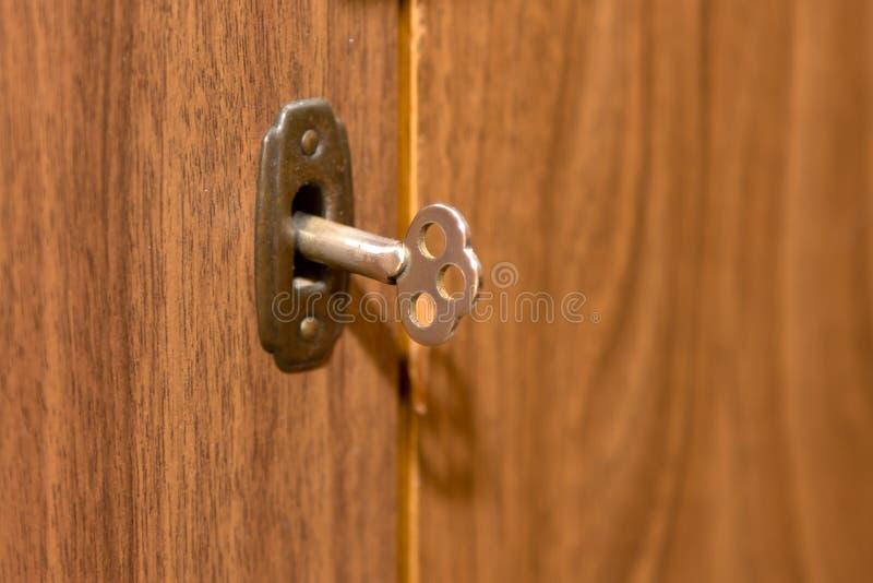 Tasto e serratura immagine stock
