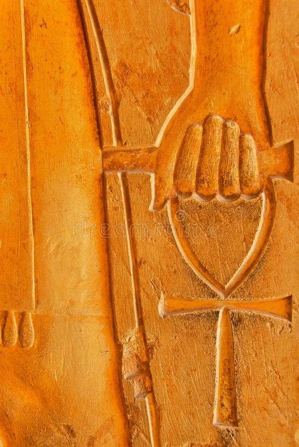 Tasto egiziano di vita fotografie stock