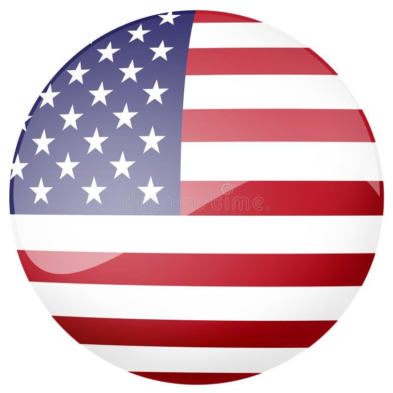 Tasto lucido della bandiera americana