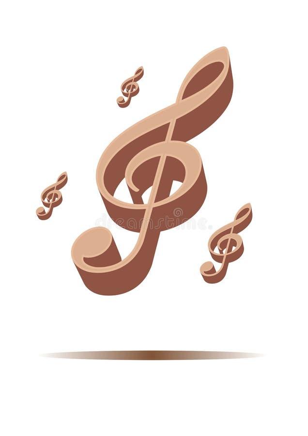 tasto musicale illustrazione vettoriale