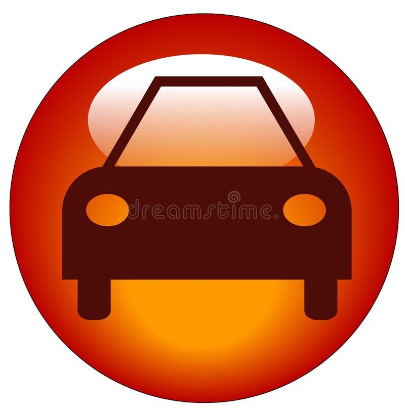 Tasto o icona dell'automobile illustrazione di stock